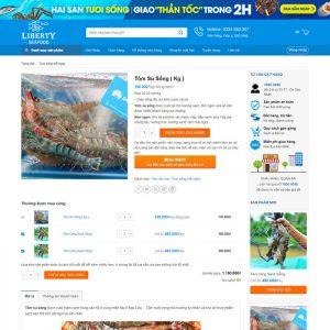 Theme Wordpress bán hàng Hải Sản M203 hình 4