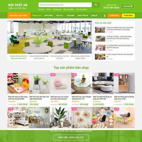 Theme Wordpress bán hàng Nội thất trang trí decor M207 hình 2