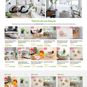 Theme Wordpress bán hàng Nội thất trang trí decor M207 hình 4