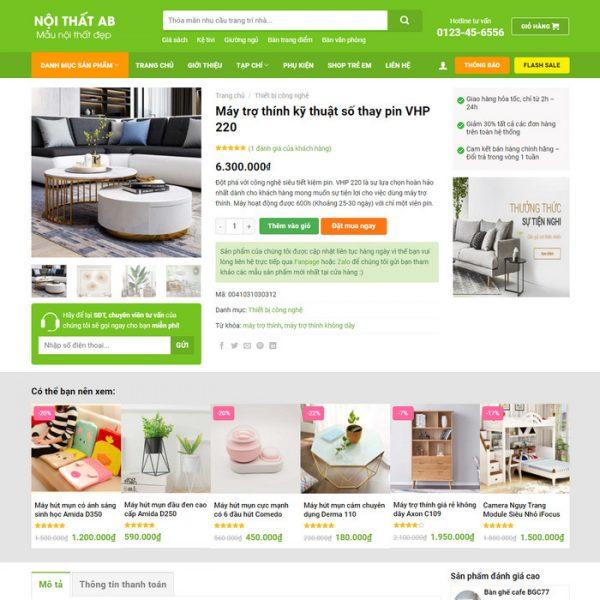 Theme Wordpress bán hàng Nội thất trang trí decor M207 hình 3