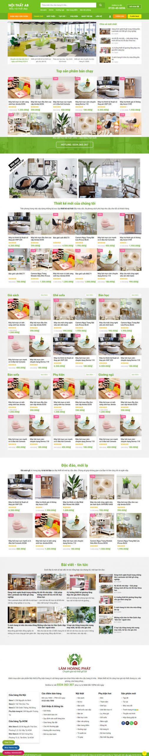 Theme WordPress bán hàng Nội thất trang trí decor M207