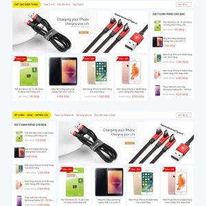 Theme Wordpress bán hàng phụ kiện điện thoại M206 hình 4
