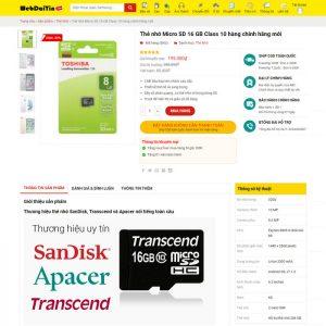 Theme Wordpress bán hàng phụ kiện điện thoại M206 hình 3