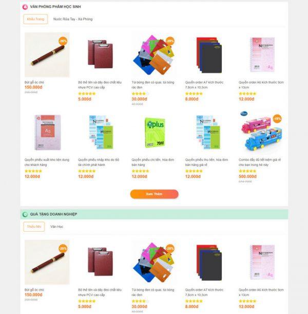 Theme Wordpress bán hàng Văn phòng phẩm M208 hình 5