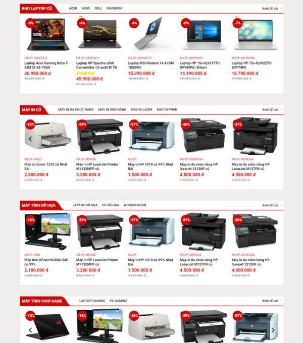 Theme Wordpress bán hàng Máy Tính, Máy In, Sửa chữa M204 hình 4
