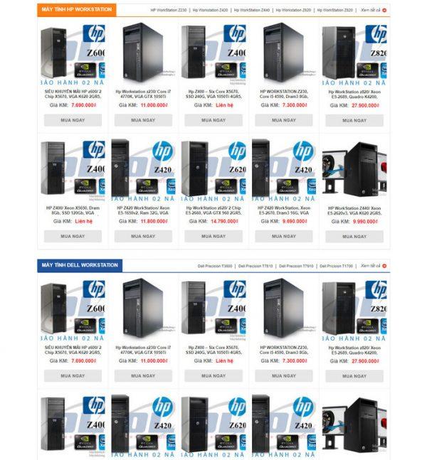 Theme Wordpress bán hàng Máy Tính PC, CPU M201 hình 3