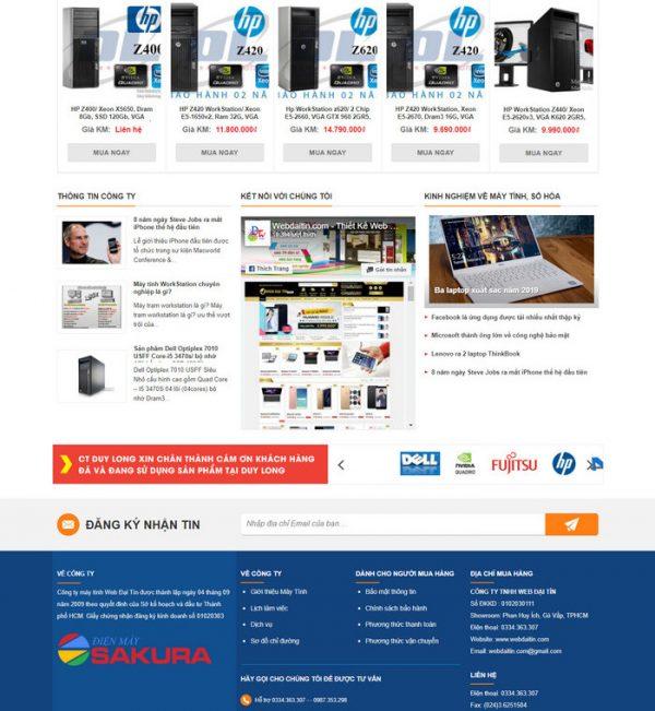 Theme Wordpress bán hàng Máy Tính PC, CPU M201 hình 4
