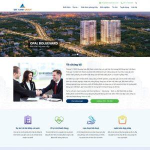 Theme Wordpress bất động sản công ty bán nhiều dự án Mẫu 197 hình 2