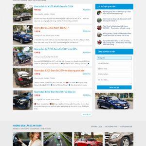 Theme Wordpress mua bán Ô Tô xe hơi cũ M200 hình 3