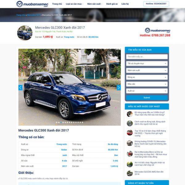 Theme Wordpress mua bán Ô Tô xe hơi cũ M200 hình 4