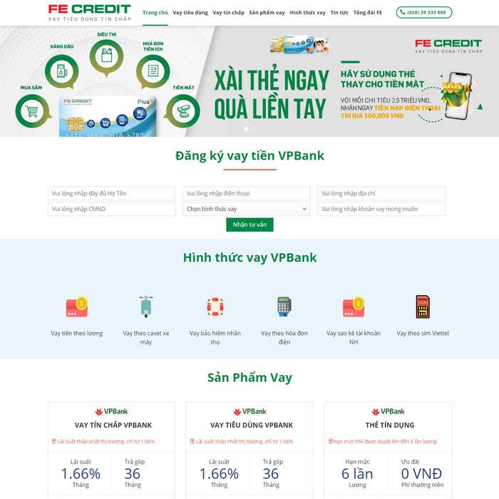 Theme WordPress vay vốn ngân hàng, vay tín chấp, thẻ tín dụng M209 hình 2