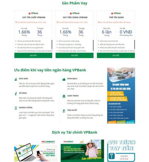 Theme Wordpress vay vốn ngân hàng, vay tín chấp, thẻ tín dụng M209 hình 3