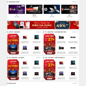 Theme Wordpress bán hàng điện máy giống Phong Vũ M213 hình 3