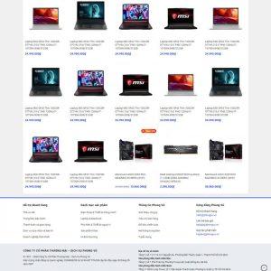 Theme Wordpress bán hàng điện máy giống Phong Vũ M213 hình 4