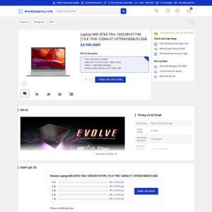 Theme Wordpress bán hàng điện máy giống Phong Vũ M213 hình 6
