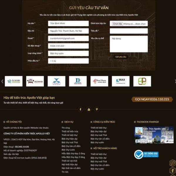 Theme Wordpress Kiến Trúc Xây Dựng Cao Cấp M214 hình 5