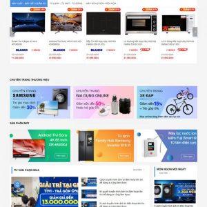 Mẫu website bán hàng Điện Máy Xanh